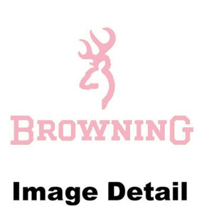 Browning Arms Company White Silver Buckmark Brand Camo Logo Pink Girly Pattern Garage Home Office Outdoor Tin Parking Sign - Back40Trading2  - 2