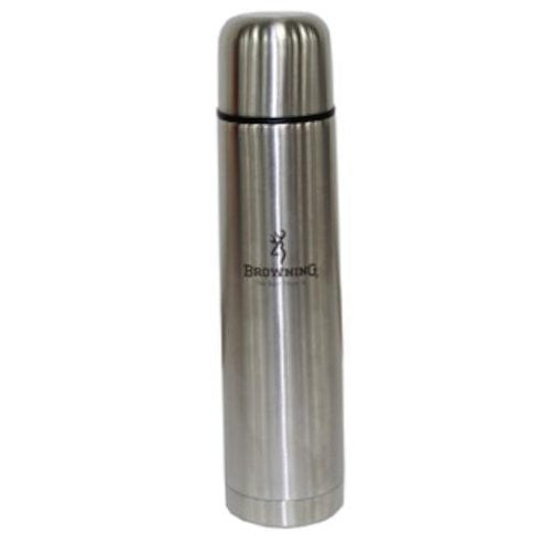 Browning Stainless 1000-ml Thermos, Silver - Back40Trading2