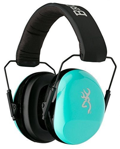 Browning Buckmark II Hearing Protector Ear Muffs,Aqua for Her