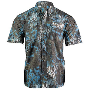 Kryptek Anemos Short Sleeve Camo Hunting & Fishing Shirt (K-Ore Collection)