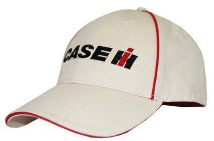Case IH Hat White with Red Piping - Back40Trading2  - 1