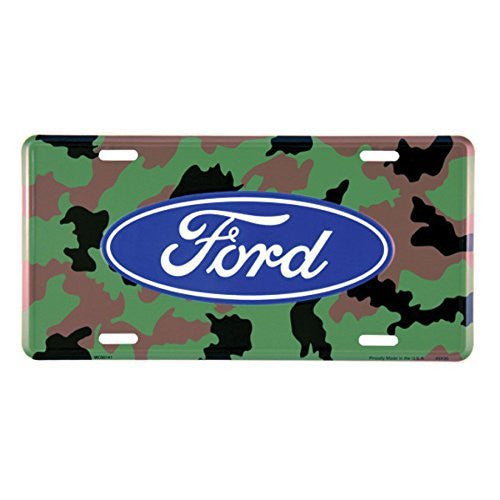 Ford Camo License Plate 14727- back40trading2