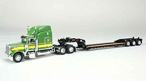 John Deere Peterbilt 379 Lowboy Trailer Green 1/64 by Speccast 33644