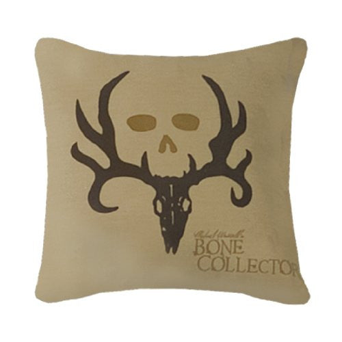 Bone Collector Square Logo Pillow, Tan - Back40Trading2