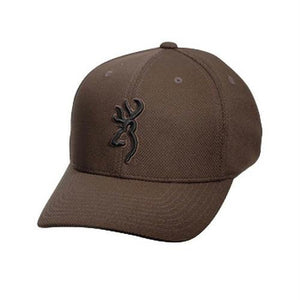 Browning Coronado Pique Cap With Buckmark, Chocolate, Color: Chocolate - Back40Trading2