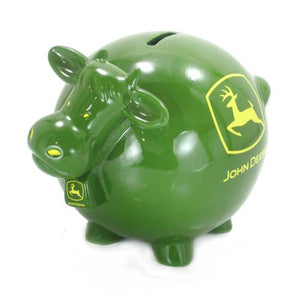 John Deere Cow Bank - Back40Trading2  - 1