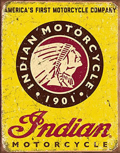 Desperate Indian Motorcycles Since 1901 Tin Sign 13 x 16in