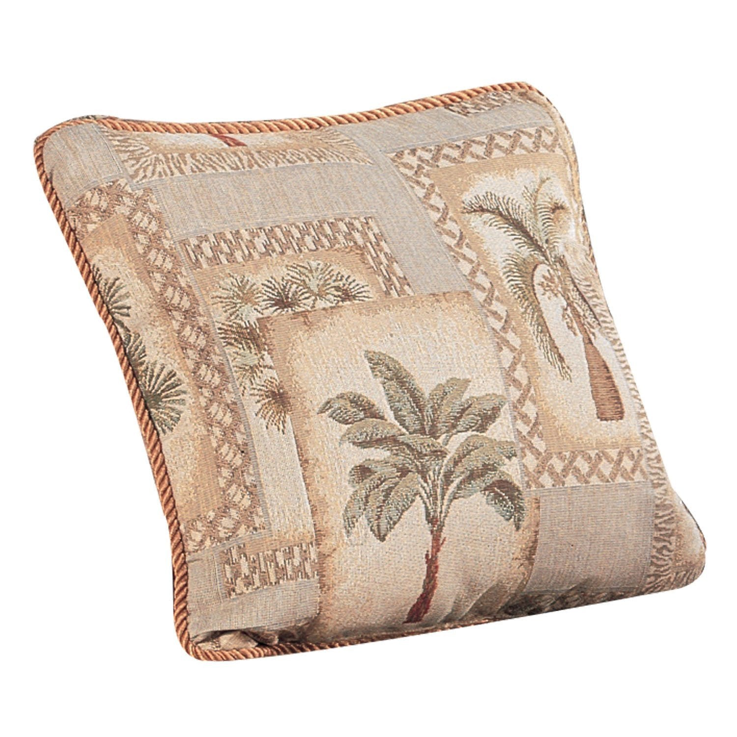 Palm Grove Square Pillow - Back40Trading2