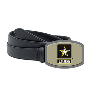 Army Officially Licensed Belt Buckle Tan - Back40Trading2