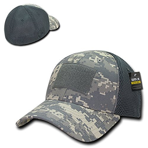 Rapid Dominance Tactical Low Crown Flex Fitting Mesh Back Cap - ACU