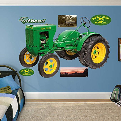 "John Deere 1937 Unstyled L Tractor Real Big Fathead Wall Decals 6'3""W x 4'3""H - Back40Trading2  - 1"