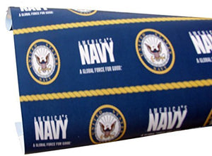 "U.S. Navy 120"" Wrapping Paper Roll- Back40Trading2"