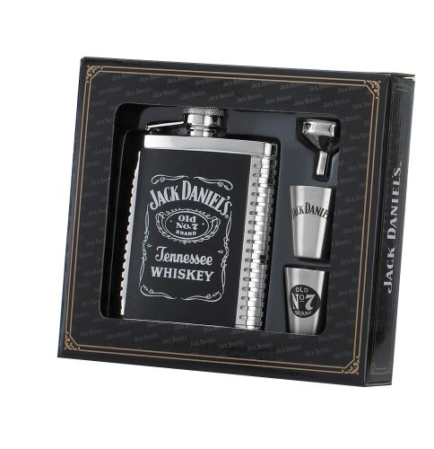 Jack Daniel's 6-Ounce Flask/Shots/Funnel Gift Set- back40trading2