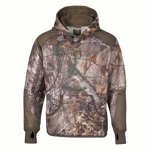Browning Hell's Canyon Performance Fleece Hoodie, Realtree Xtra