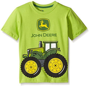John Deere Little Boys' Big Tractor Tee, Lime Green, 7- back40trading2