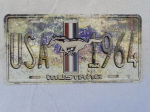 FORD MUSTANG USA SINCE 1964 LICENSE PLATE TAG- back40trading2