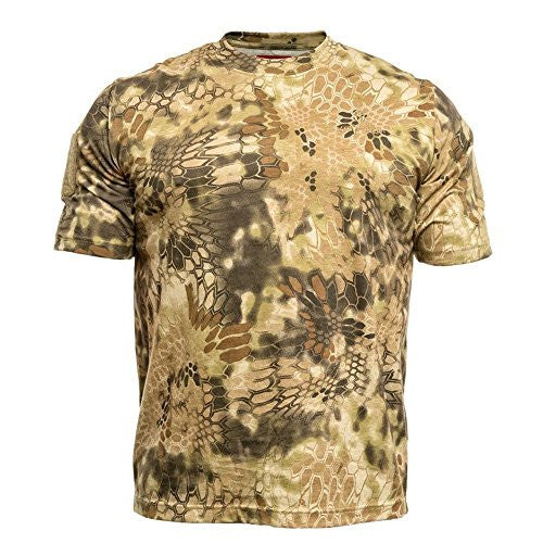 Kryptek Men's Stalker T-Shirt Short Sleeve Cotton Highlander Camo