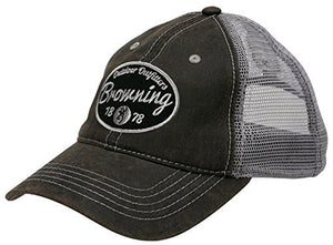 Browning Folsum Mesh Hat, Charcoal- Back40Trading2