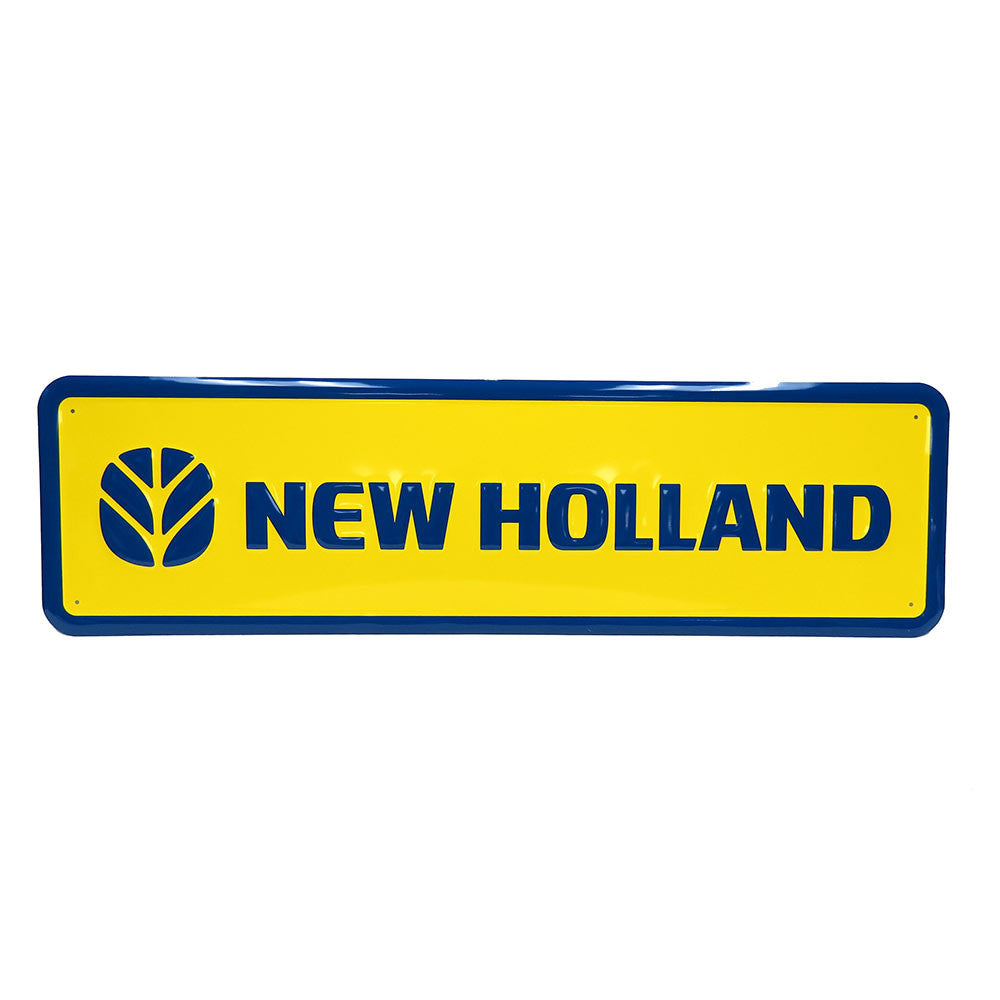 "New Holland Giant 15"" x 42"" Embossed Metal Sign"
