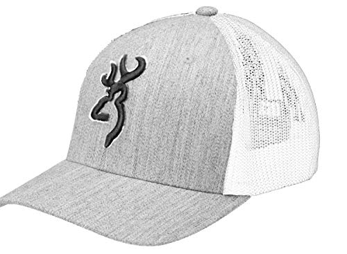Browning Gameday Meshback Cap-Heather Gray