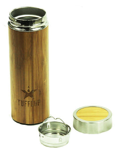 TuffCup Double Wall Stainless Steel Bamboo Bottle - Back40Trading2  - 2