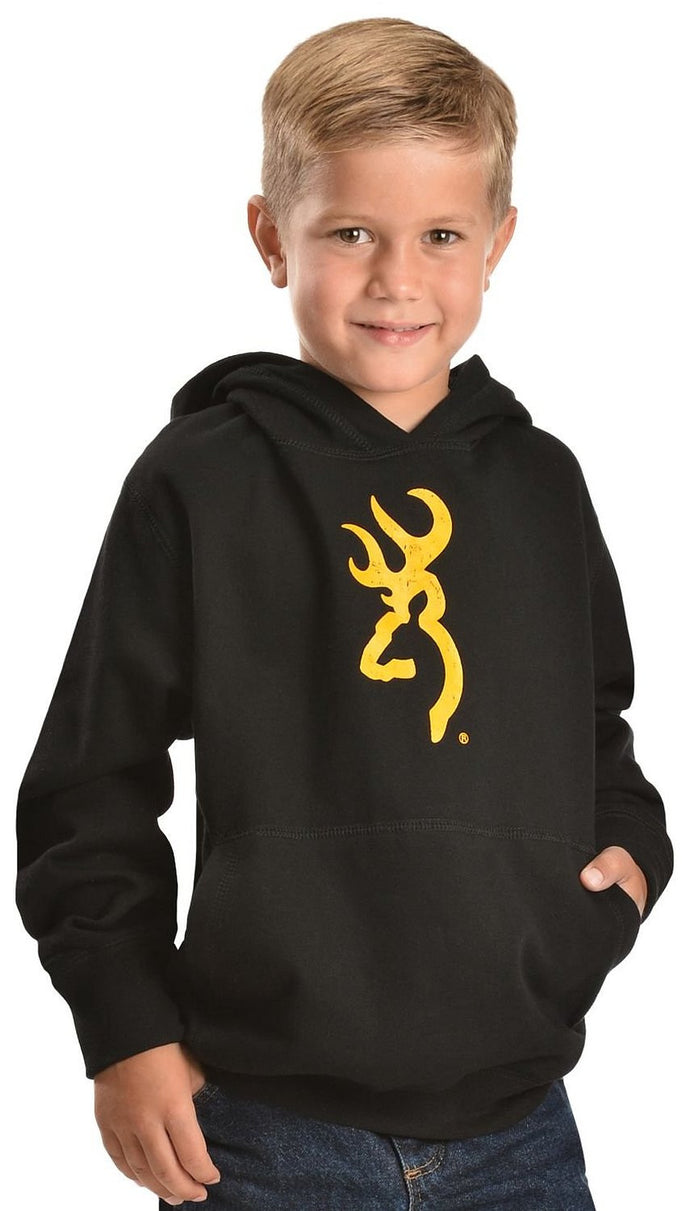 Browning Boys' Buckmark Logo Hooded Sweatshirt - Back40Trading2  - 1
