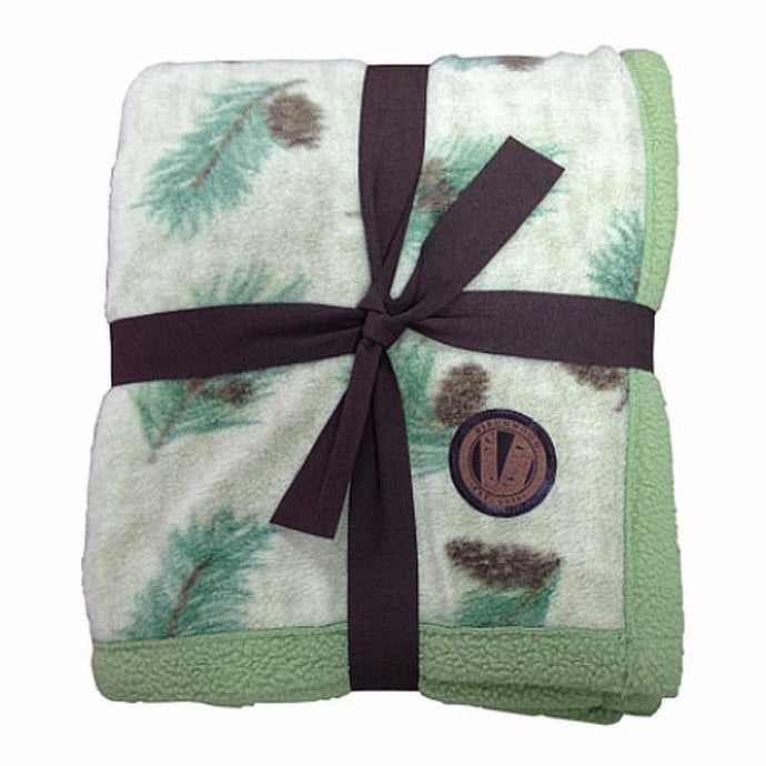 Pinecone Fleece Sherpa Throw 50