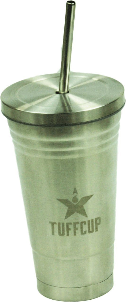 Tuffcup Starbucks Style Double Wall Stainless Steel Cold Cup With Cleaning Brush, BPA-Free - Back40Trading2  - 1