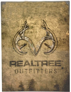 Realtree Outfitters Camo Garage Home Office Outdoor Tin Parking Sign - Back40Trading2  - 1