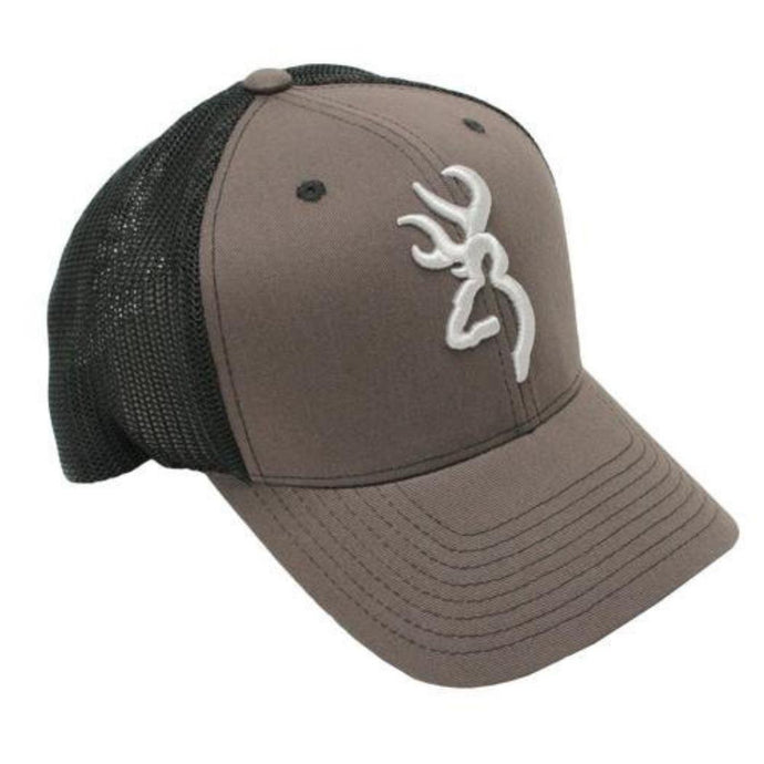 Browning Colstrip Cap, Gray, Flex Fit, L-XL - Back40Trading2