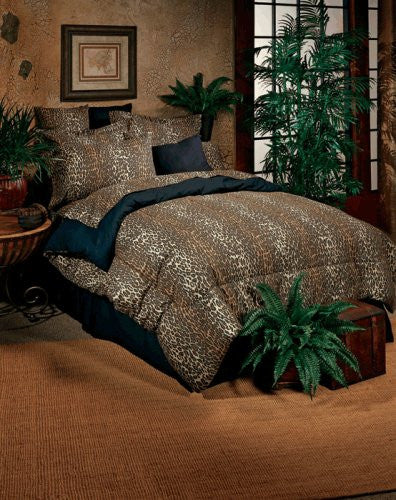 Leopard 4 Piece Bed-in-a-Bag Set Size: Twin - Back40Trading2