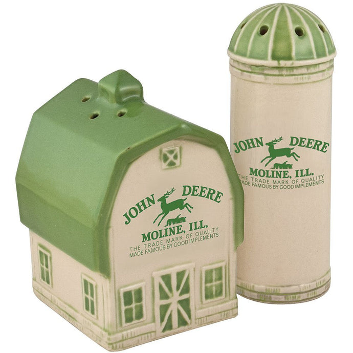 Deere Vintage Logo Salt and Pepper Shaker Set - Back40Trading2