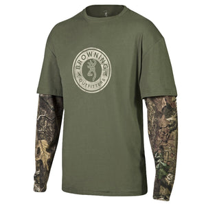 Browning Men's Long Sleeve Ryder Camo T Shirt - Back40Trading2  - 1