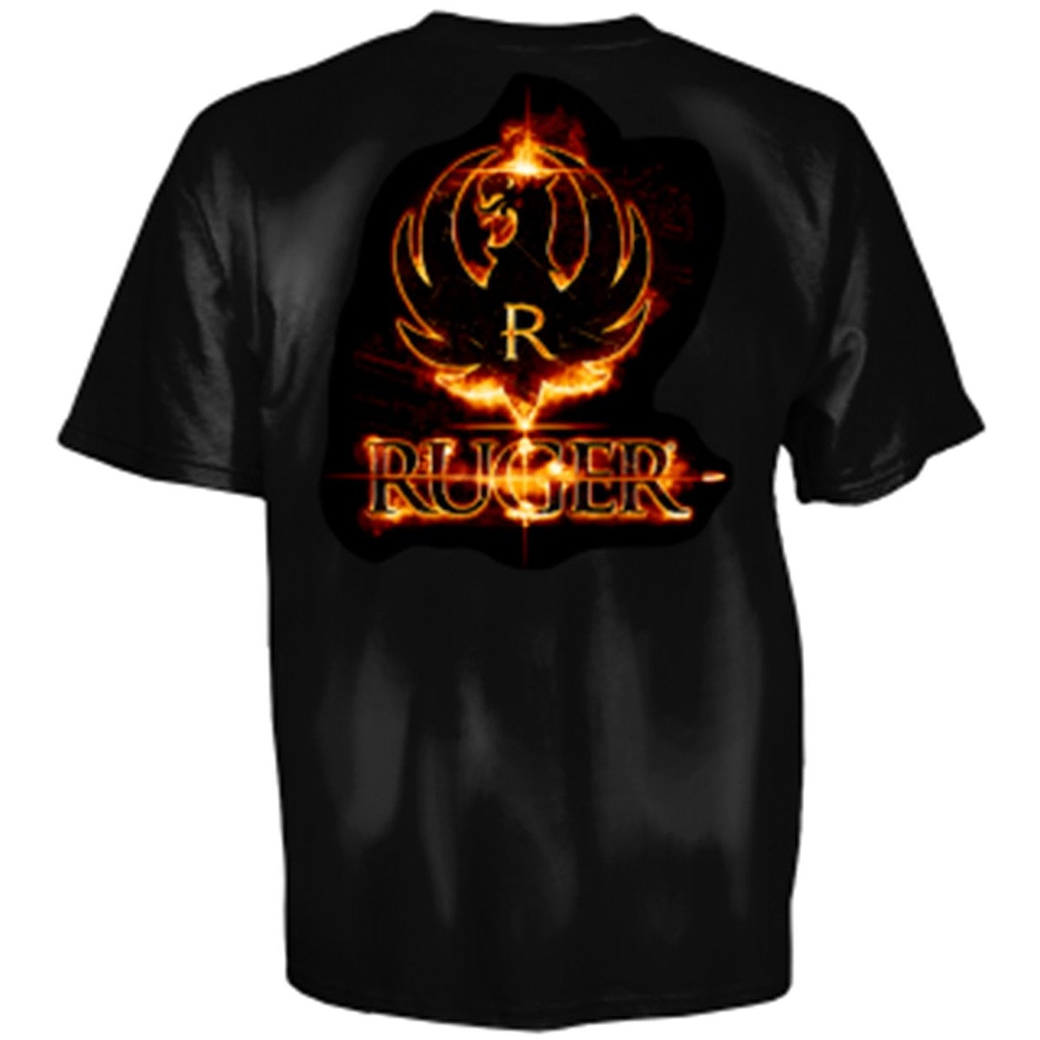 Ruger Laser Point Adult SS T-shirt by Club Red - Black - Back40Trading2