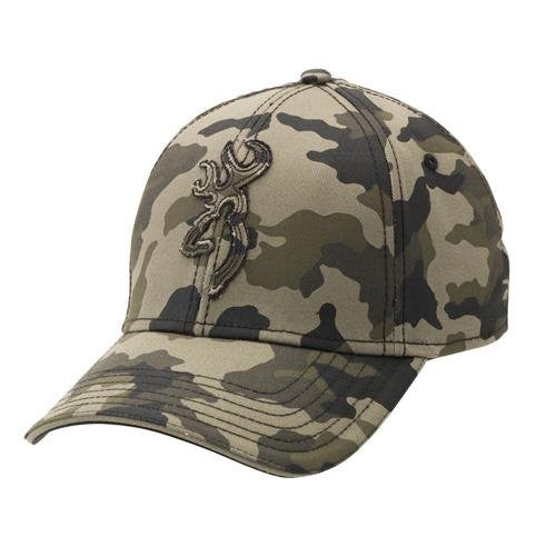 Browning Stalker Cap,Camo,S/M - Back40Trading2