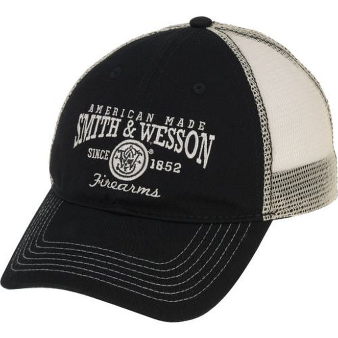 540 Brands Smith & Wesson American Pride Mesh Backed Hat, Black -back40trading2