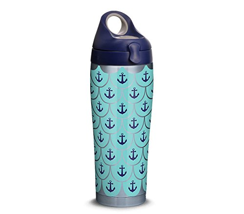 Tervis Stainless Steel Anchors and Scallops Pattern with Water Bottle Lid 24 Ounce Tumbler