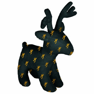 Browning Plush Logo Deer Toy Black and Gold - Back40Trading2