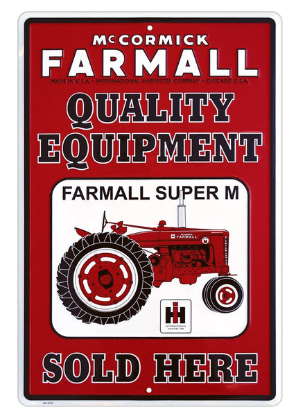 Farmall Metal Sign Red And White Back40 Trading Co