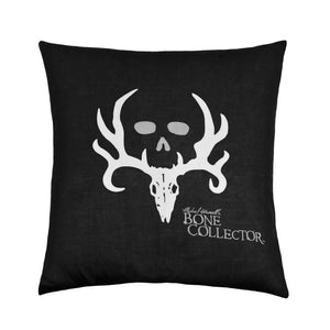 Bone Collector Black Square Pillow Black - Back40Trading2