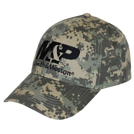 Smith Men's And Wesson Logo Embroidered Camo Cap - back40trading2