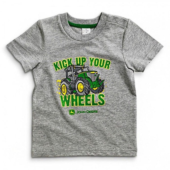 John Deere Heather Gray Kick Up Your Wheels Infant T-Shirt - Back40Trading2
