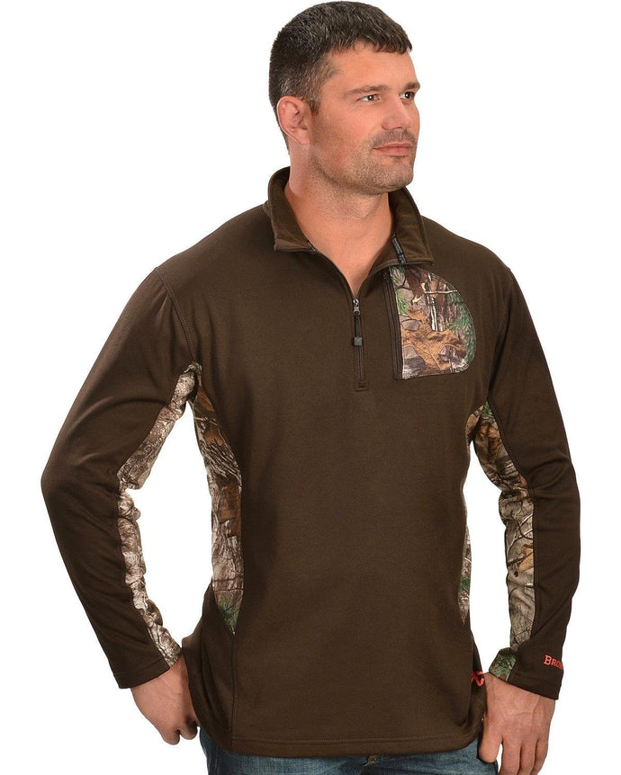 Browning Men's 1/4 Camo Zip Pullover - Back40Trading2  - 1