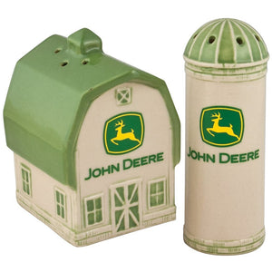 Deere Barn/Silo 2000 Logo Salt and Pepper Shaker Set - Back40Trading2