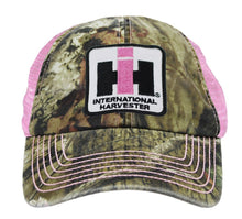 Case IH Distressed Trucker Cap Womens Pink and Camo - Back40Trading2  - 2