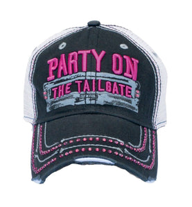 Farm Girl Women's Party On The Tailgate Bling Cap - Back40Trading2