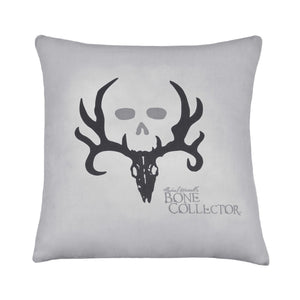 Bone Collector Black Square Pillow Gray - Back40Trading2