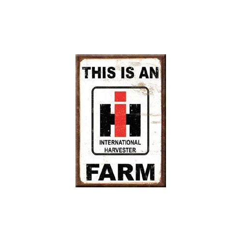 This Is An IH Farm International Distressed Retro Vintage Locker Refrigerator Magnet - Back40Trading2