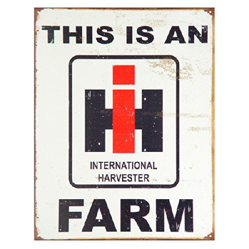 This is an IH Farm Distressed Retro Vintage Tin Sign Tin Sign , 13x16 - Back40Trading2