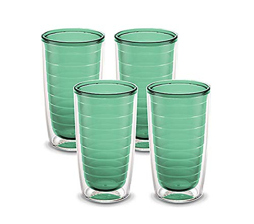 Tervis Clear & Colorful 4 Pack 16oz Tumbler Set, Neo Mint
